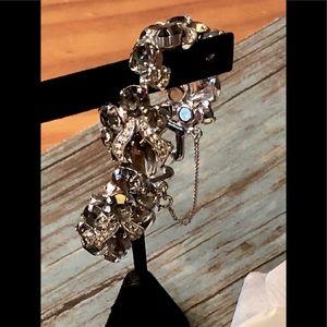 Jewelry - 1950s Florenza Style Topaz Rhinestone Bracelet